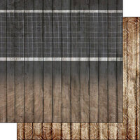 Scrapbook Customs - 12 x 12 Double Sided Paper - Volleyball Wood Court