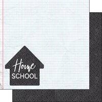 Scrapbook Customs - 12 x 12 Double Sided Paper - Covid-19 Homeschool