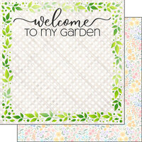 Scrapbook Customs - 12 x 12 Double Sided Paper - Gardening Welcome
