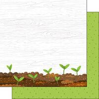 Scrapbook Customs - 12 x 12 Double Sided Paper - Gardening Plants