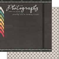 Scrapbook Customs - 12 x 12 Double Sided Paper - Photography Phrase