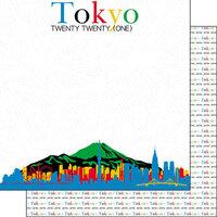 Scrapbook Customs - 12 x 12 Double Sided Paper - Tokyo Twenty Twenty