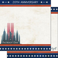 Scrapbook Customs - 12 x 12 Double Sided Paper - 20th Anniversary September 11th Patriot Day