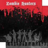 Scrapbook Customs - Halloween - 12 x 12 Double Sided Paper - Zombie Hunters