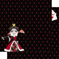 Scrapbook Customs - Halloween - 12 x 12 Double Sided Paper - Heartless Queen