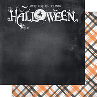 Scrapbook Customs - 12 x 12 Double Sided Paper - Into Halloween