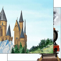 Scrapbook Customs - Magical Witch and Wizard Collection - 12 x 12 Double Sided Paper - Castle Right