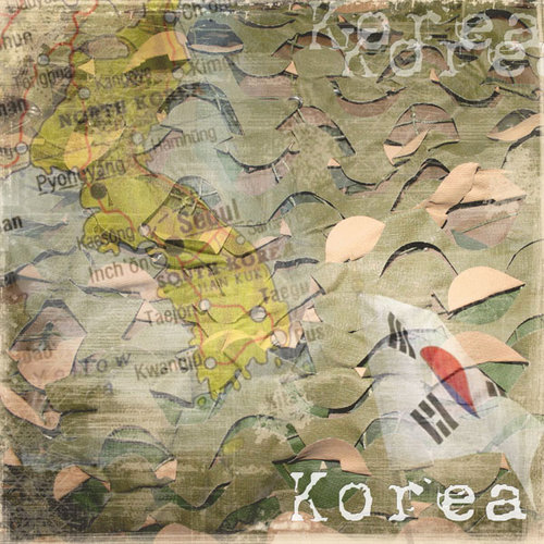 Scrapbook Customs - World Collection - South Korea - 12 x 12 Paper - Korea