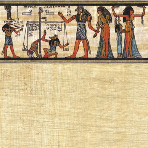 Scrapbook Customs - World Collection - Egypt - 12 x 12 Paper - Papyrus Scroll