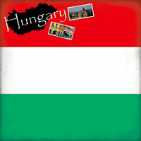 Scrapbook Customs - World Collection - Hungary - 12 x 12 Paper