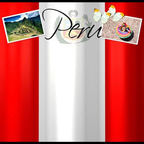 Scrapbook Customs - World Collection - Peru - 12 x 12 Paper