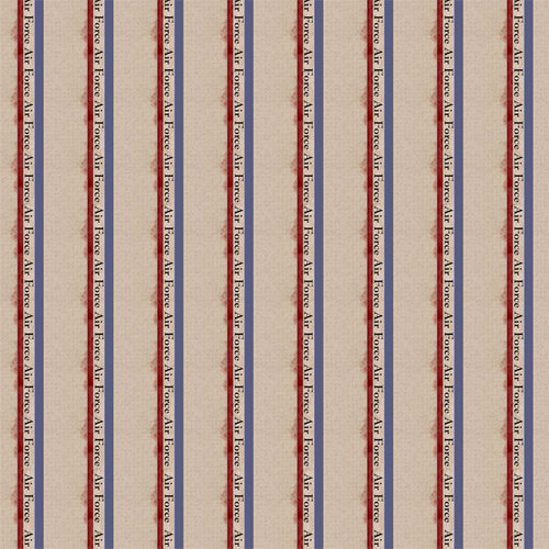 Scrapbook Customs - Military Collection - 12 x 12 Paper - Air Force Stripes