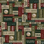 Scrapbook Customs - Military Collection - 12 x 12 Paper - Army Squares