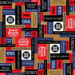 Scrapbook Customs - Military Collection - 12 x 12 Paper - Coast Guard Squares