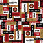 Scrapbook Customs - Military Collection - 12 x 12 Paper - Marines Squares