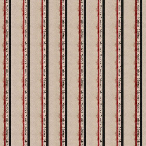 Scrapbook Customs - Military Collection - 12 x 12 Paper - Marines Stripes