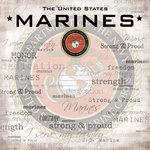 Scrapbook Customs - Military Collection - 12 x 12 Paper - Marines Emblem