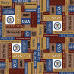 Scrapbook Customs - Military Collection - 12 x 12 Paper - Navy Squares