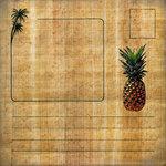Scrapbook Customs - United States Collection - Hawaii - 12 x 12 Paper - Hawaiian Postcard 2