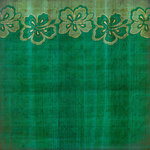 Scrapbook Customs - United States Collection - Hawaii - 12 x 12 Paper - Hibiscus Border - Green