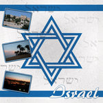 Scrapbook Customs - World Collection - Israel - 12 x 12 Paper