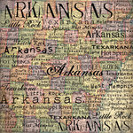 Scrapbook Customs - United States Collection - Arkansas - 12 x 12 Paper - Map