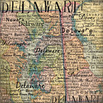 Scrapbook Customs - United States Collection - Delaware - 12 x 12 Paper - Map