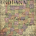 Scrapbook Customs - United States Collection - Indiana - 12 x 12 Paper - Map