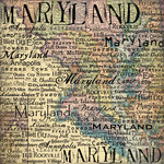 Scrapbook Customs - United States Collection - Maryland - 12 x 12 Paper - Map