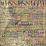 Scrapbook Customs - United States Collection - Mississippi - 12 x 12 Paper - Map