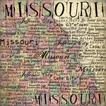 Scrapbook Customs - United States Collection - Missouri - 12 x 12 Paper - Map