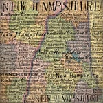 Scrapbook Customs - United States Collection - New Hampshire - 12 x 12 Paper - Map