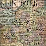 Scrapbook Customs - United States Collection - New York - 12 x 12 Paper - Map