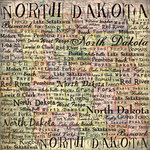 Scrapbook Customs - United States Collection - North Dakota - 12 x 12 Paper - Map