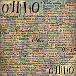 Scrapbook Customs - United States Collection - Ohio - 12 x 12 Paper - Map
