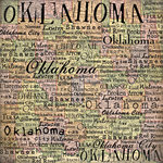 Scrapbook Customs - United States Collection - Oklahoma - 12 x 12 Paper - Map 2