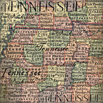 Scrapbook Customs - United States Collection - Tennessee - 12 x 12 Paper - Map