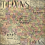 Scrapbook Customs - United States Collection - Texas - 12 x 12 Paper - Map 2