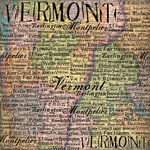 Scrapbook Customs - United States Collection - Vermont - 12 x 12 Paper - Map