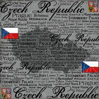 Scrapbook Customs - World Collection - Czech Republic - 12 x 12 Paper - Scratchy