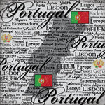 Scrapbook Customs - World Collection - Portugal - 12 x 12 Paper - Scratchy