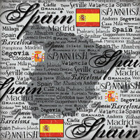 Scrapbook Customs - World Collection - Spain - 12 x 12 Paper - Scratchy