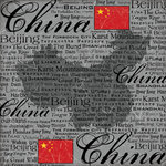 Scrapbook Customs - World Collection - China - 12 x 12 Paper - Scratchy