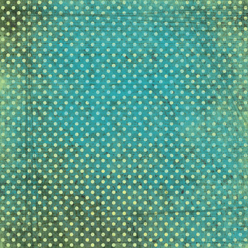 Scrapbook Customs - Travel Collection - 12 x 12 Paper - Tropical - Polka Dots - Green