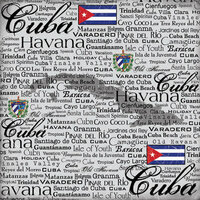 Scrapbook Customs - World Collection - Cuba - 12 x 12 Paper - Scratchy
