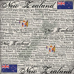 Scrapbook Customs - World Collection - New Zealand - 12 x 12 Paper - Scratchy