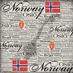 Scrapbook Customs - World Collection - Norway - 12 x 12 Paper - Scratchy