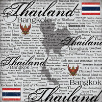 Scrapbook Customs - World Collection - Thailand - 12 x 12 Paper - Scratchy