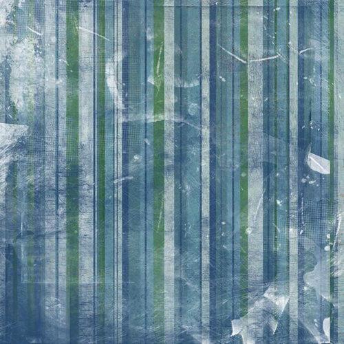 Scrapbook Customs - United States Collection - Alaska - 12 x 12 Paper - Stripe