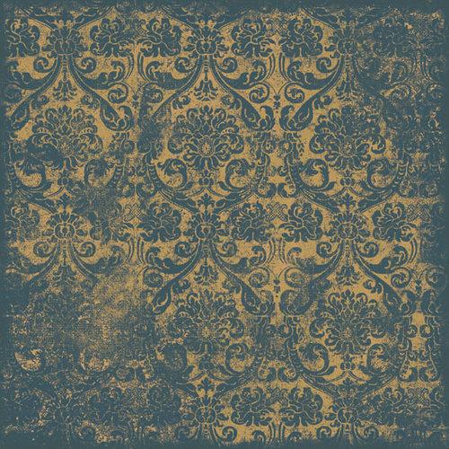 Scrapbook Customs - Travel Collection - 12 x 12 Paper - Patchwork - Blue Wallpaper